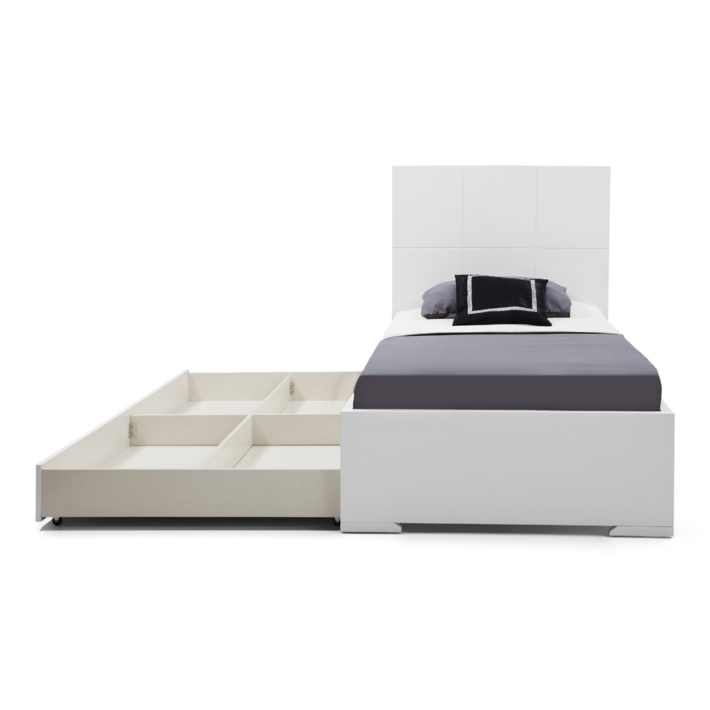 Anna Twin Bed Trundle | Whiteline